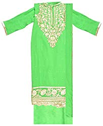 Radha Rani Women's Georgette Unstitched Dress Material (Green)