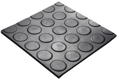 4MM X 1.2M X 2M 5 BAR ROUND DOT MAT - 5 Bar Round Dot Matting (Industrial Rubber Flooring)