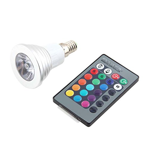 Generic E14 3W 16 Color 110V Rgb Led Flash Light Bulb Lamp Ac90~240V Remote Control For Halloween, Thanksgiving Day, Christmas Day, Party, Black Friday