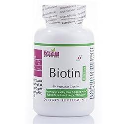 zenith nutritions biotin 10000 mcg 60 capsules