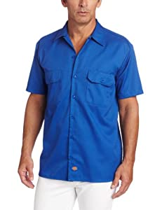 Dickies Herren Streetwear Male Shirt Short Sleeve Work, Royal Blue, 3XL, 1574