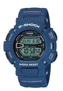 Casio Men's G-Shock G9000MX-2 Blue Resin Quartz Watch with Blue Dial