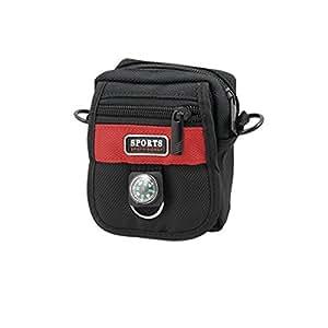 Sports Camera Black Red Zipper Closure Bag Holder