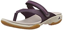 Clarks Womens Isna Slide Aubergine Flip-Flops and House Slippers - 3.5 UK