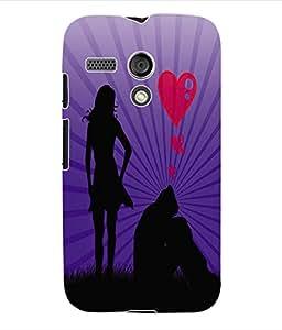 Fuson 3D Printed Valentine Designer Back Case Cover for Motorola Moto G - D655