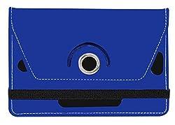 Jkobi 360* Rotating Front Back Tablet Book Flip Case Cover For Devante Crystal (Universal) -Blue
