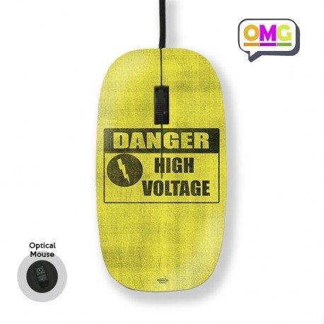 Mouse Stampato con Filo Danger High Voltage Hazard Protective Hard Back Case Mascherina Custodia