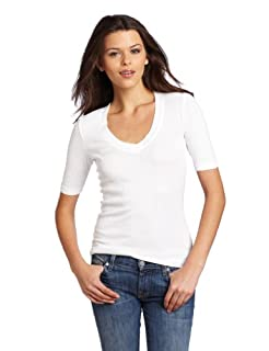 1X1 3/4 Sleeve V Neck Tee, 1X1 3/4 Sleeve V Neck Tee,  X-Large