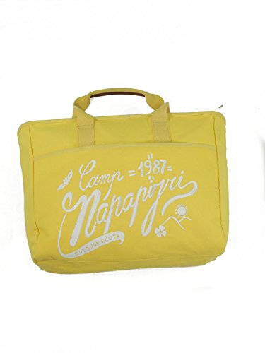 Napapijri Fancy E/W Tote shopping bag borsa donna mare N8O01 Y47 vibrant yellow