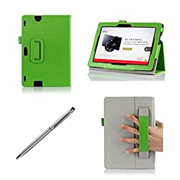 ProCase New Kindle Fire HDX 8.9 Case with bonus stylus pen - Flip Stand Leather Folio Cover for Kindle Fire HDX 8.9 inch Tablet (will only fit New Kindle Fire HDX 8.9 2013 released) (Green)