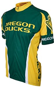 NCAA Oregon Ducks Cycling Jersey, Green Yellow by Adrenaline Promotions