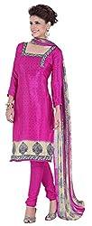 Fabgruh Presents Crepe Dress Material(Pink)