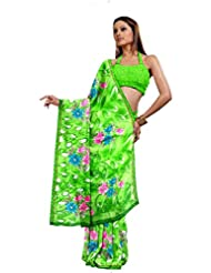 Ethnic Trend Chiffon Saree With Blouse Piece - B00OOVGVYU