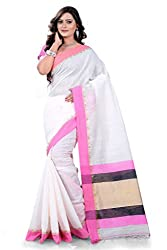 Amigos Fashion Women's Tassar Silk Saree (AF-07)