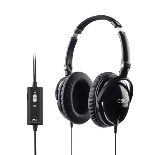 Meiego Cs-Anc2S Active Noise Cancelling Over-Ear Streo Headphone Headset With Airline Headphone Adapter-- Retail Packaging