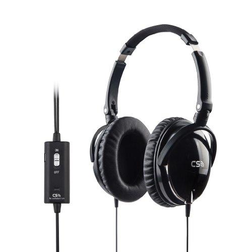 Meiego Cs-Anc2S Active Noise Cancelling Headphones/On The Go Noise-Cancelling Headsets /Noise Canceling Over-Ear Headphones With Headphone Mount Holder + Headphone Splitter