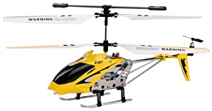 Syma S107 3 Channel Infrared Controlled Helicopter with Gyroscopic Stability Control - Yellow