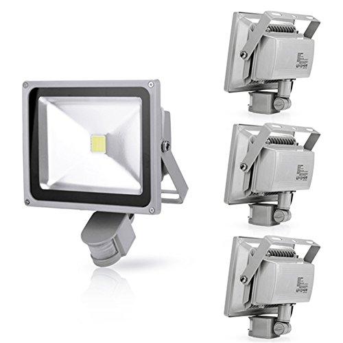 Generic 4Pcs 30W Cool White Led Induction Lamp Pir Motion Sensor Ip65 Outdoor Floodlight 85-265V