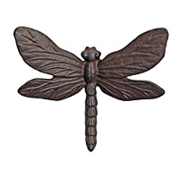 Wall Mountable Vintage Cast Iron Dragonfly Garden Ornament from Gardens2you