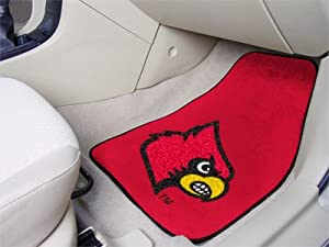 Louisville Cardinals universal fit Carpet 2 Pc Car Floor Mat (Rug) by Fanmats