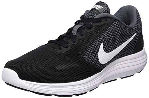 Nike Wmns Revolution 3, Scarpe Running Donna, Grigio (Dark Grey/White-Black), 37.5 EU