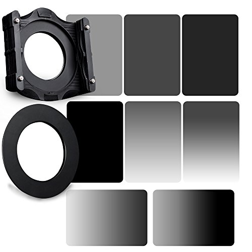 Zomei 10 in 1 Square Z-PRO Series Filter Holder Support + Adapter Ring 77mm + Full Grey ND2+ND4+ND8+ND16 + Gradual Grey ND2+ND4+ND8+ND16 150*100