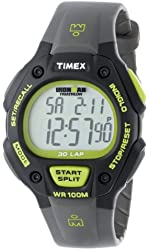 """Timex Men's T5K6929J """"Ironman Traditional"""" 30-Lap Black and Green Resin Strap Watch"""