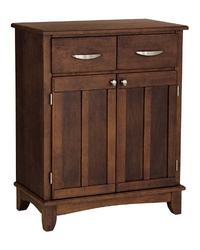 Cheap Server Sideboard with Metal Handles in Medium Cherry Finish (VF_HY-5001-0072)