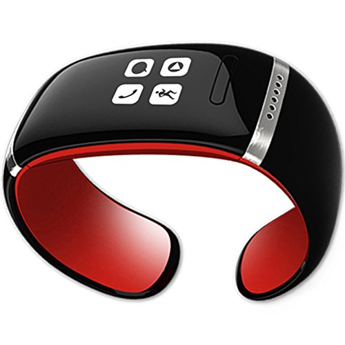 Smartfly Contact List Synchronization Oled Bluetooth Bracelet Color Red