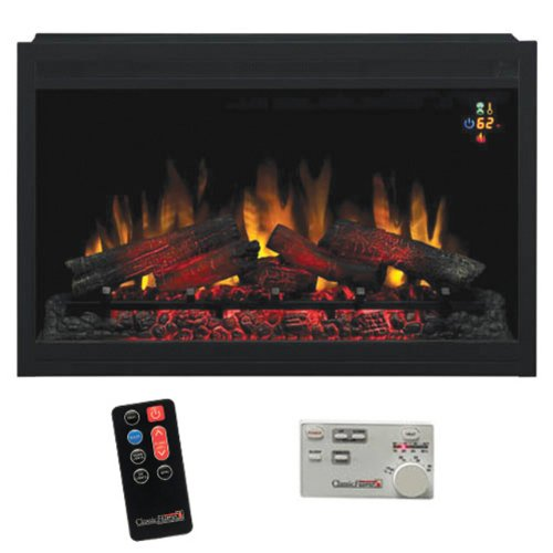 Best Review Of ClassicFlame 36EB110-GRT 36 Traditional Built-in Electric Fireplace Insert, 120 volt