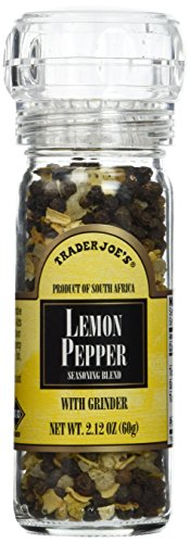 Trader Joe's Lemon Pepper Peppercorns with Grinder -- 2-Pack (Trader Joes Black Pepper Sauce compare prices)