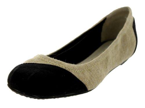 Toms Women's Ballet Flat Burlap Alessandra Casual Shoe
