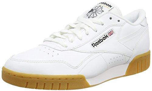Reebok Ex-O-Fit Plus Low Scarpe Low-Top, Uomo, Bianco (Weiß (White/Gum)), 42