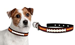 Washington Redskins Leather Football Lace Dog Collar (Small to Large Sizes Available) by GameWear