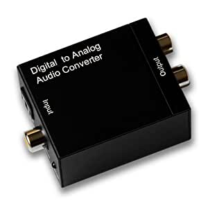 PORTTA PETDTAC Digital Coax and Optical Toslink to Analog Audio Converter