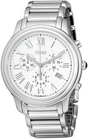 フェンディ Fendi Men's F252014000 Classico Analog Display Quartz Silver Watch 男性 メンズ 腕時計 【並行輸入品】