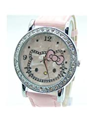 Hello Kitty Crystal Background Pink