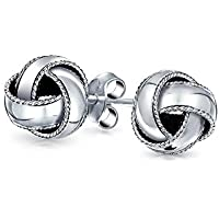 Bling jewelry Sterling Silver Classic Woven Love Knot Stud Earrings