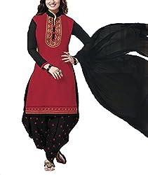 Meghali Women's Cotton Unstitched Salwar Suit (GS11_Multi-Coloured_Freesize)