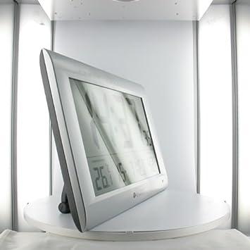 horloge pendule dcf murale murale geante avec temperature informatique z537. Black Bedroom Furniture Sets. Home Design Ideas