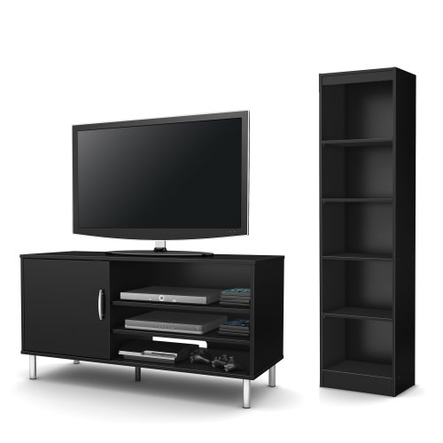South shore renta 2 piece living room set includes tv for Complete living room sets with tv