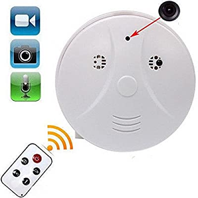 ASDOMO Mini HD DVR SPY Hidden Camera Smoke Detector Motion Detection Video Recorder Cam
