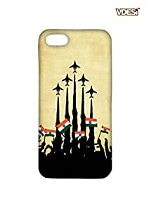 VDESI Matte case for Apple iPhone 5 - Planes_Flags (Crm)