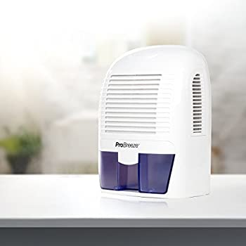 Pro Breeze Electric Dehumidifier, 2200 Cubic Feet, Compact and Portable for Damp Air, Mold, Moisture in Home, Kitchen, Bedroom, Basement, Caravan, Office, Garage