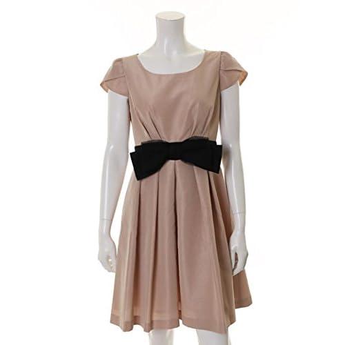 (エフデ)ef-de dress フロントリボンシャンタンワンピース ピンク 09