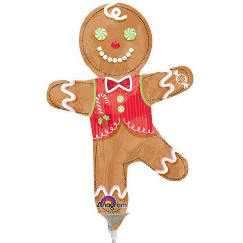 Candy Gingerbread Man Mini Shape Anagram Balloons