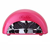 Perfect Nail Tool!!! Belle New High Quality Dome Portable Both Professional & Home Use 12W LED Light/Lamp for Curing Gel Nail Polish with Timer,110V