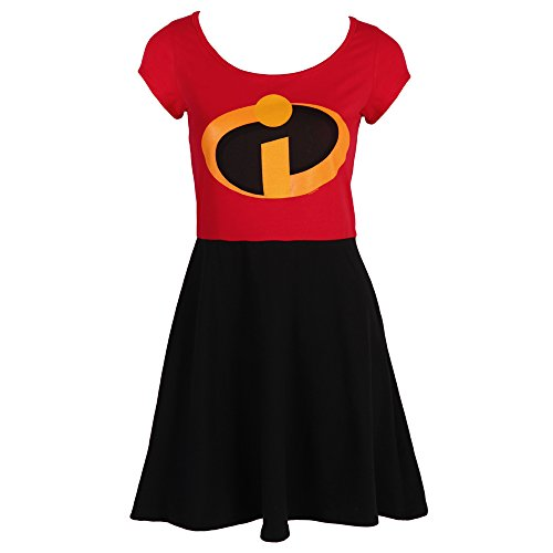 [I Am Elastigirl The Incredibles Disney Film Mighty Fine Jrs Costume Skater Dress (Large)] (Dash Incredibles Costumes)