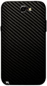 atFoliX FX-Carbon-Black Decorative Film for Samsung Galaxy Note 2 N7100
