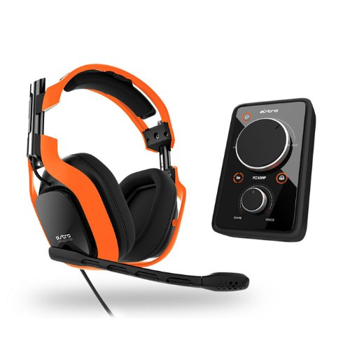 2013 Astro Gaming A40 Wired Audio System - Neon Edition - Orange W/ Mixamp Pro